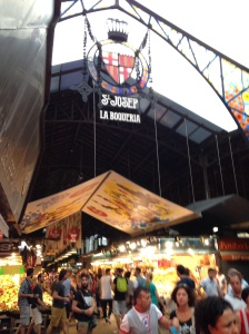 La Boqueria, the mercado downtown.